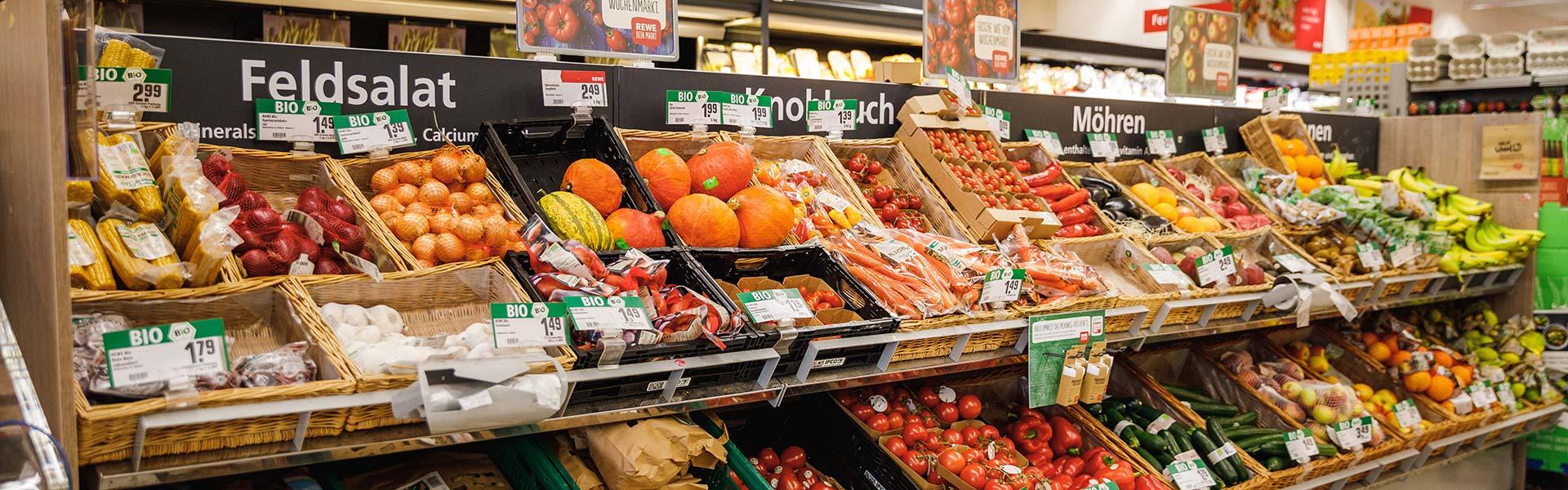 Obst und Gemüse bei REWE Kreutle